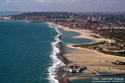 Vista aérea da Fortaleza dos Reis Magos. Foto: Canindé Soares