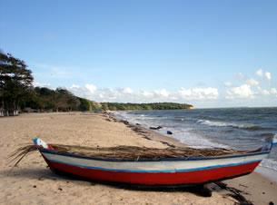Lado esquerdo da praia de Joanes
