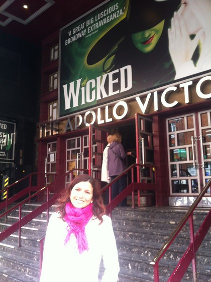 No teatro Apollo para assistir Wicked