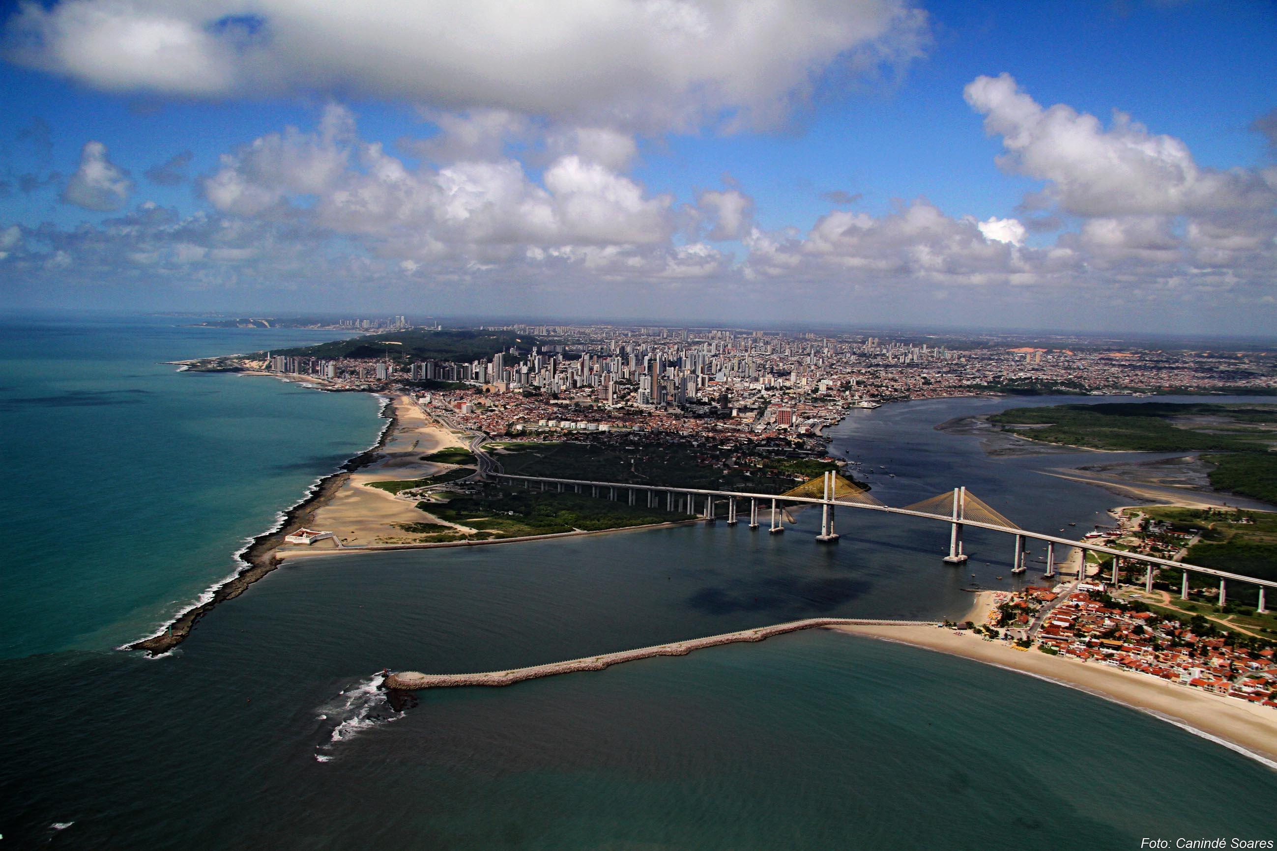 Foto aérea de Natal por Canindé Soares