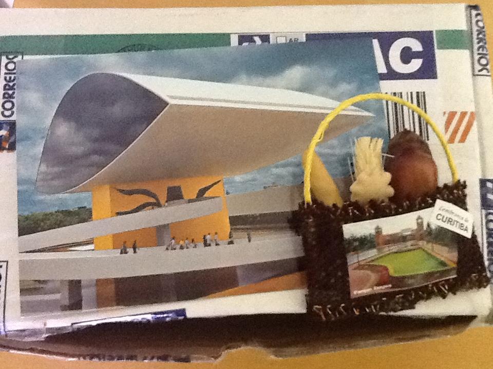 Cartão que a Fer me enviou de Curitiba