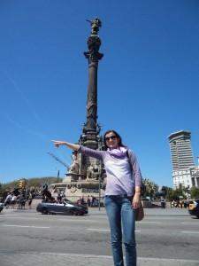 Também tem a versão imitando Colombo, em Barcelona