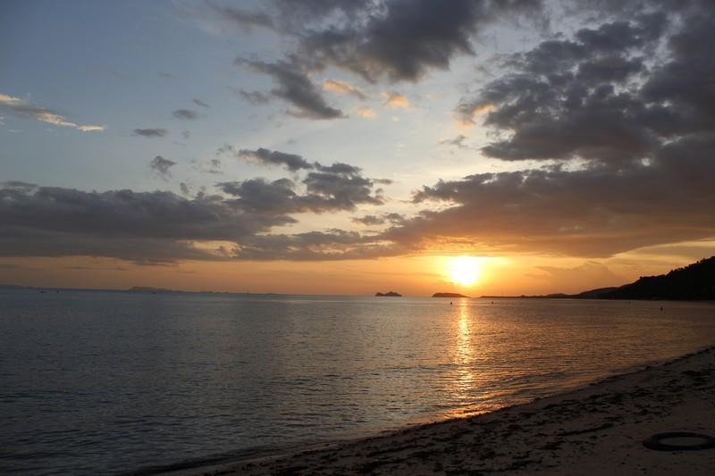 Pôr do sol na nossa praia Sunset Beach