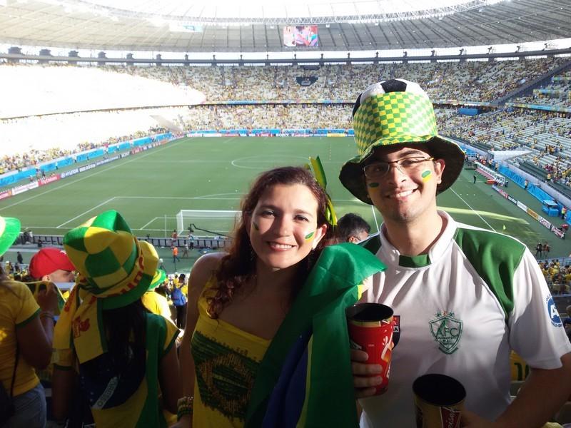 No Castelão assistindo Brasil X Colômbia
