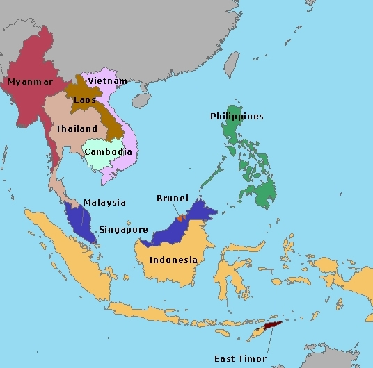 Sudeste Asiatico Mapa Mapa Sudeste Asi Tico