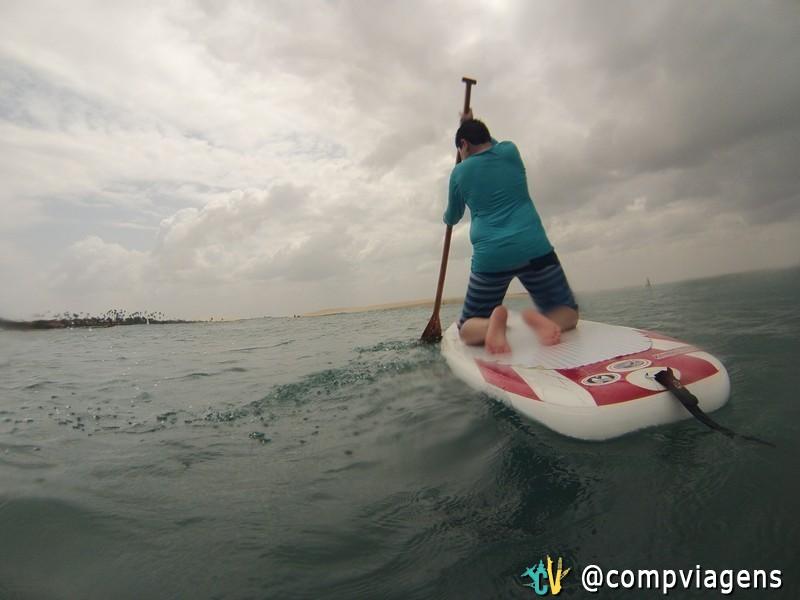 Nosso sobrinho, Serginho, no Stand up Paddle
