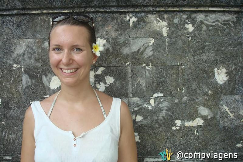 Julie em Bali