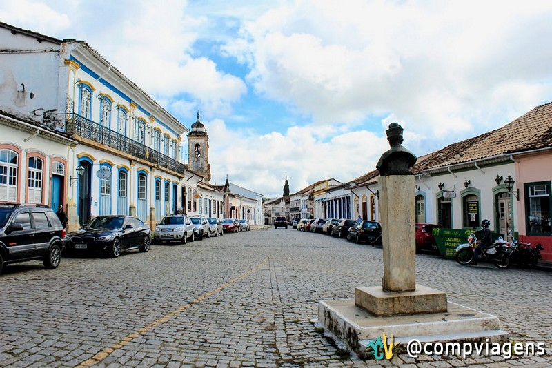 Rua Getúlio Vargas, em São João del Rei