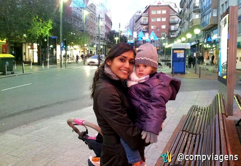 Suzy com a filha, Laia.