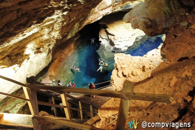 O Poço Azul é uma das atrações mais visitadas da Chapada Diamantina