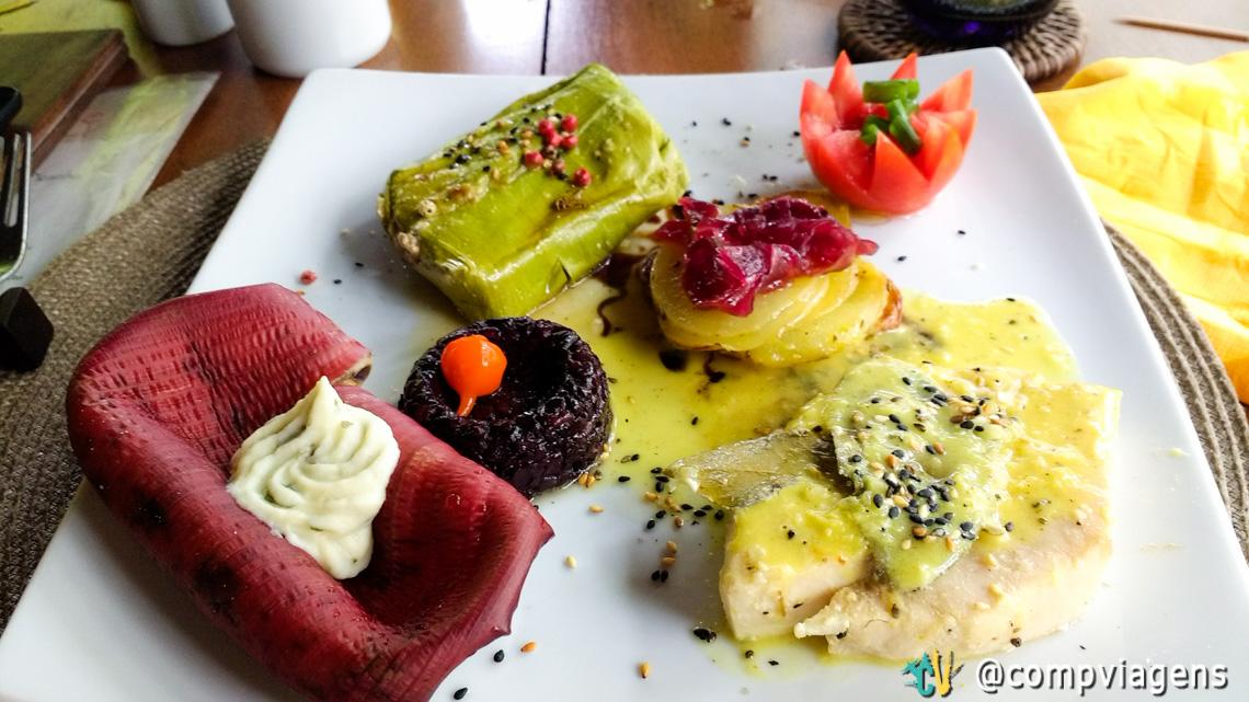 Prato principal do Menu Vegetariano