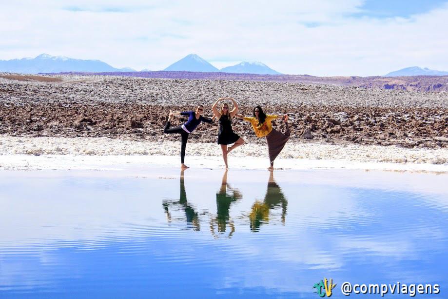 Yogando com Julie e Cris nas Lagunas Escondidas