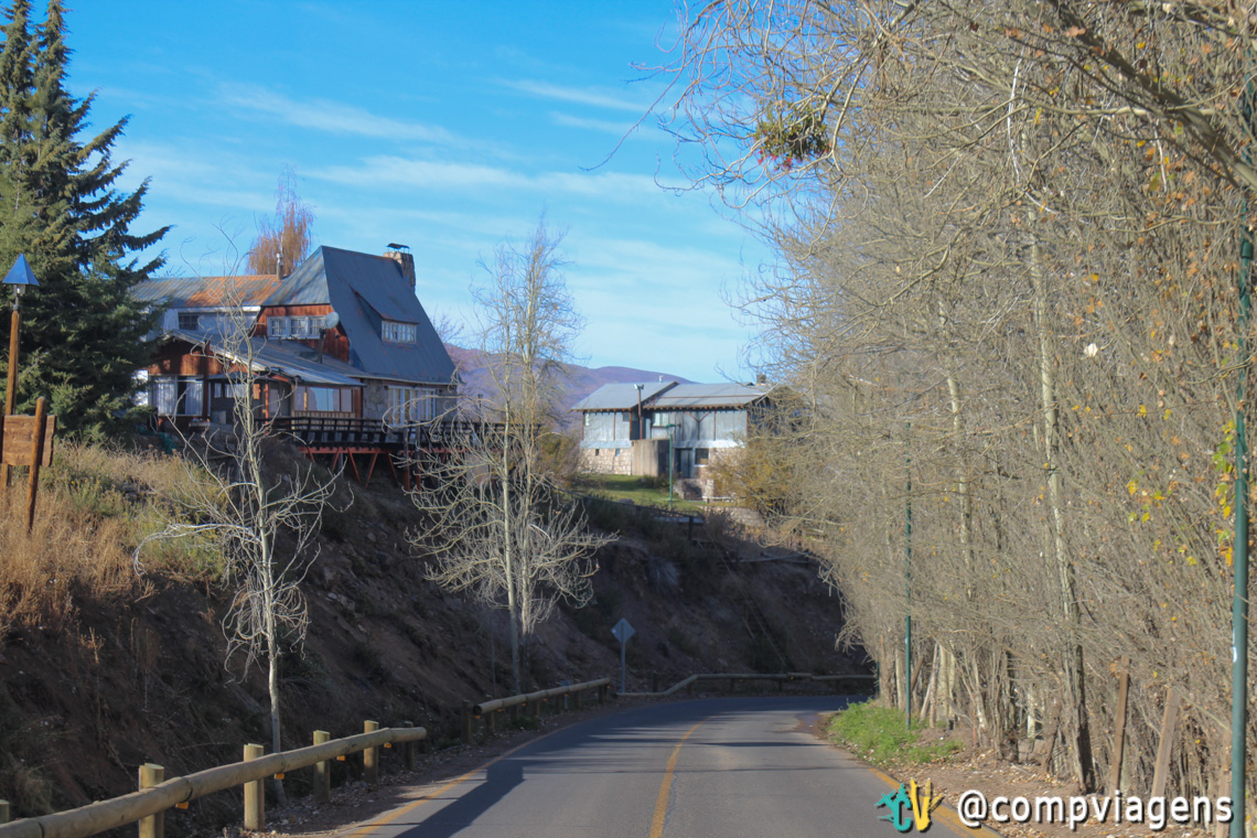 Casas no caminho para Valle Nevado