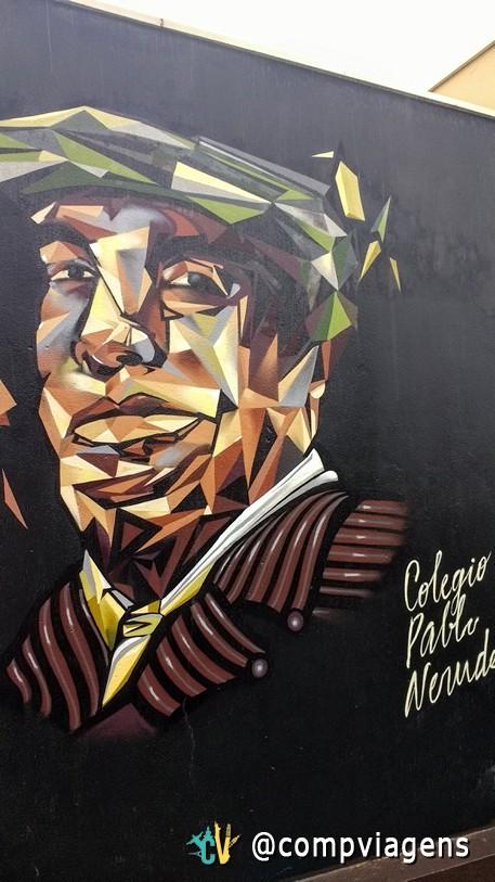 Grafite de Neruda próximo a La Sebastiana