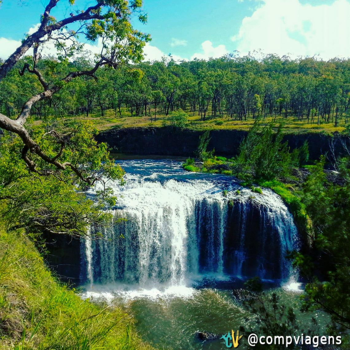 Millstream Falls, a mais larga cachoeira de uma queda da Austrália