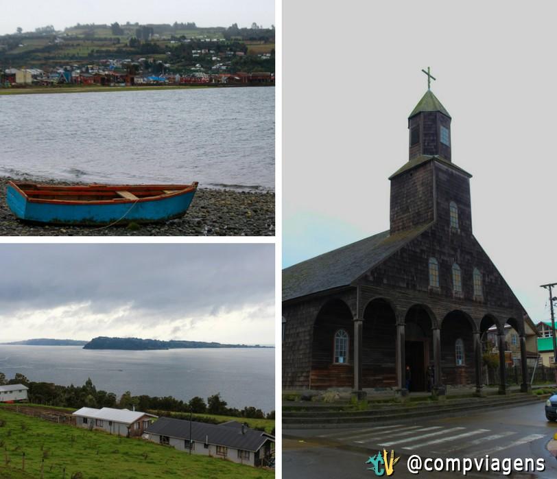 Igreja e paisagens de Achao