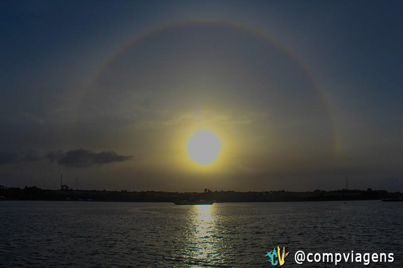 Arco-íris na nossa despedida de Chiloé