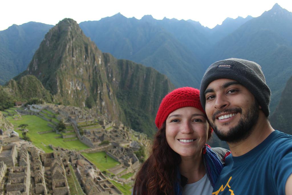 Em Machu Picchu, no Peru