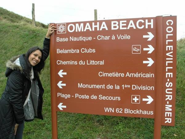 """Praia de Omaha, um dos pontos principais da invasão aliada no """"Dia D"""""""