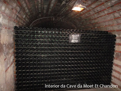 Interior da Cave Moet Et Chandon