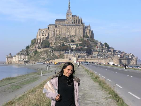 O monte Saint Michel visto na chegada