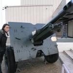 Canhão de artilharia móvel