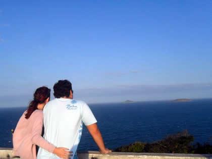 Admirando a paisagem