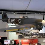 Avião utilizado na época, em destaque no museu