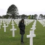 Imagem chocante de apenas parte do imenso cemitério onde foram enterrados os aliados mortos em combate