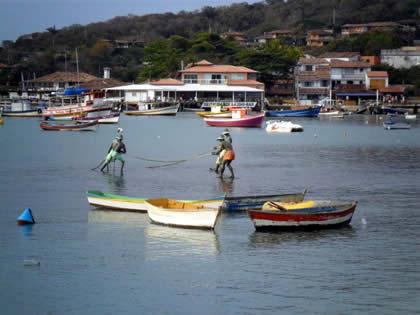 Pescadores: estátua de bronze
