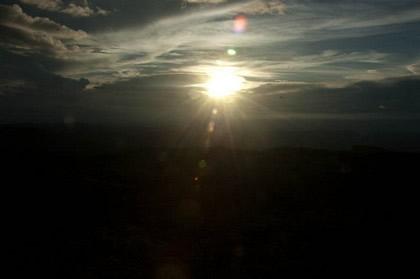 Pôr do sol visto do nosso mirante improvisado