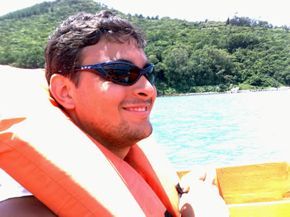 Fred Santos, ida para Lagoinha do Leste de barco