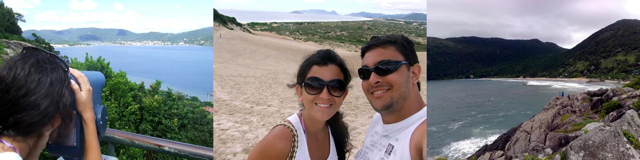 Praias: Mirante da Praia Mole, Dunas da Joaquina e Praia da Armação