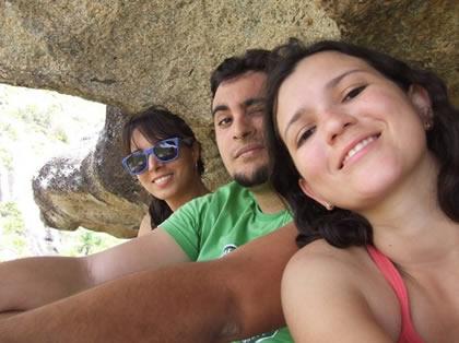 O trio aventureiro: Sara, Fred e eu (a fotógrafa)