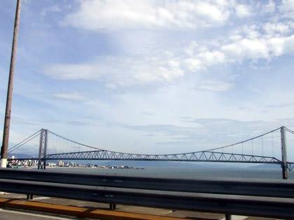 Atravessando a ponte, rumo ao continente