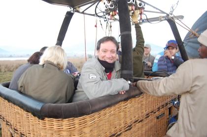 Preparando-se para o voo de balão