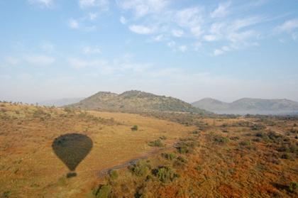 Vista do voo de balão