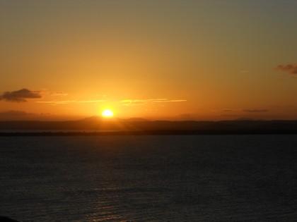 Pôr do sol visto do farol