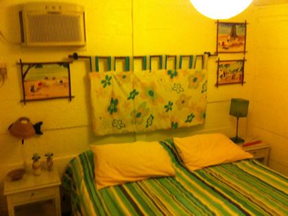 Nosso quarto no Chalé Oásis