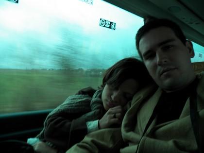 No ônibus, rumo à Praga