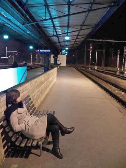 Estação de trem deserta