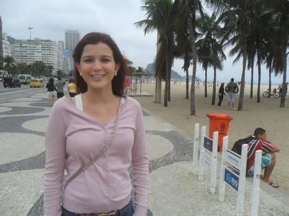 Passeio no calçadão de Copacabana