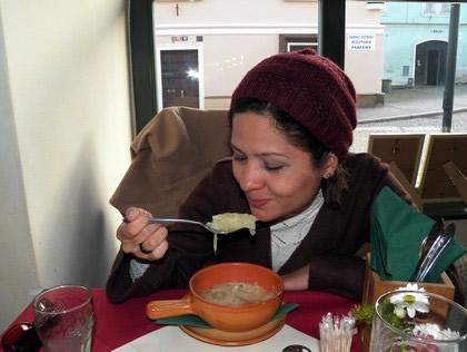 Sopa de cebolas...uma delícia!