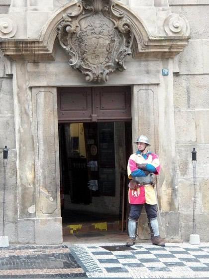 Um dos cavaleiros que encontramos pelo caminho.