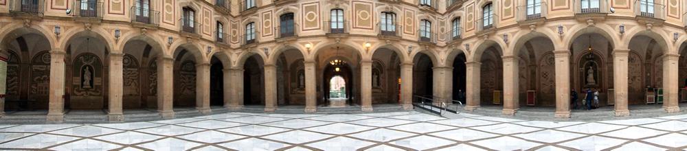Pátio da basílica