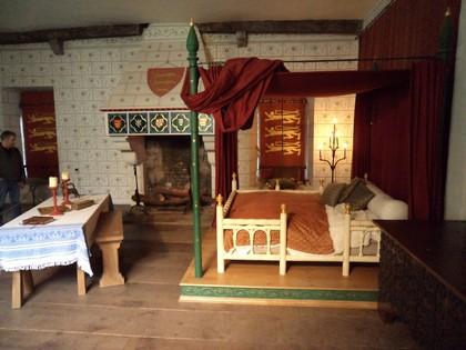 Reprodução do quarto do rei