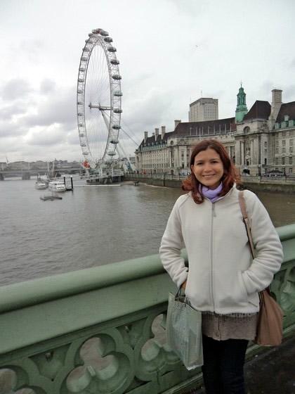 Na Westminster Bridge: com vista para a London Eye