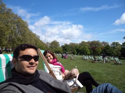 Pegando um solzinho no St James´s Park