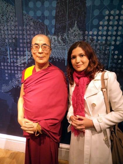 Não falei que Dalai Lama estava em Londres!