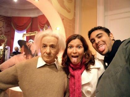 No Madame Tussad´s com o gênio Einstein